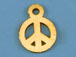 Gold-Filled Peace Sign Charm