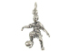 Sterling Silver Soccer Player Charm