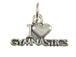 Sterling Silver I Love Gymnastics Charm with Jumpring