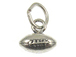 Sterling Silver Football Charm with Jumpring