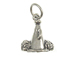 Sterling Silver Megaphone with Pom Poms Charm with Jumpring