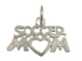 Sterling Silver Soccer Mom Charm with Jumpring