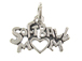 Sterling Silver Softball Mom Charm with Jumpring