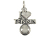 Sterling Silver I Love Tennis Charm with Jumpring