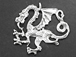 Sterling Silver Dragon - Left