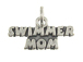 Sterling Silver Swimmer Mom Charm with Jumpring