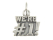 Sterling Silver We' re #1! Charm with Jumpring