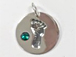 Sterling Silver Baby Feet Birthstone Charm - May