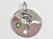 Sterling Silver Baby Feet Birthstone Charm - August