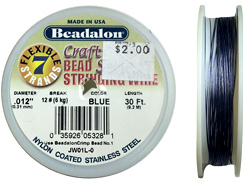 30 Feet - Beadalon 7 Strand Wire .012 inch Blue