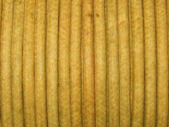 Waxed Cotton Cord 2mm Round Khaki 100 Meter or 328 feets