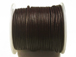 25 meters - Dark Brown 1mm Round Indian Leather Cord