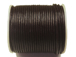 25 meters - Dark Brown 1.5mm Round Indian Leather Cord