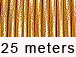 25 Meters - Gold Metallic Leather 1.5mm Round Leather Cord