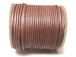 25 Meters - Baby Pink Metallic Leather 1.5mm Round Leather Cord