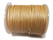 25 Meters - Cream Metallic Leather 2mm Round Leather Cord