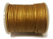 25 Meters -  Gold Metallic Leather 2mm Round Leather Cord