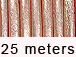 25 Meters -  Light Salmon Metallic Leather 2mm Round Leather Cord