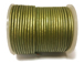 25 Meters -   Fern Green Metallic Leather 2mm Round Leather Cord