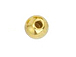 24 - 5mm Round Gold Plated Memory Wire End Beads