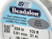 100 Feet - Beadalon 49 Strand Wire .024 inch Bright