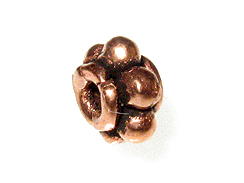 4.25x6.5mm Granulated Antiqued Copper Rondelle