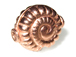 16.25x14x8.5mm Fancy Flat Round Spiral Bright Copper Bead