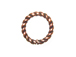 1x7mm Closed Twisted Antiqued Copper Floater