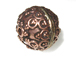 15x15.5mm Large Bali Style Antiqued Copper Bead