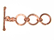11.5mm (x3) Round 3-Ring Bright Copper (Extender) Toggle Clasp