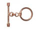 14.25mm Round Bright Copper Toggle Clasp