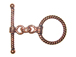 16.5mm Round Twist Antiqued Copper Toggle Clasp