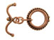 16mm Round Antiqued Copper Toggle Clasp