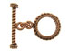 15.5mm Round Antiqued Copper Toggle Clasp