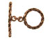 18mm Round Antiqued Copper Textured Toggle Clasp