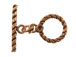 13mm Round Antiqued Copper Toggle Clasp