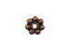 5mm Antiqued Copper Daisy Bead