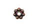 6mm Antiqued Copper Daisy Bead Strand