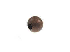 5mm Round Antique Copper Plated Brass Bead