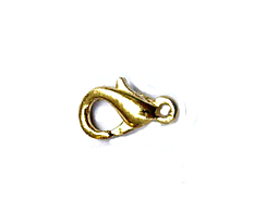 11mm Gold plated Base Metal Lobster Claw