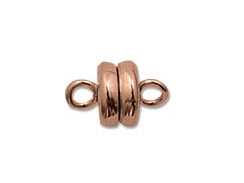 Antiqued Brass Plated: 6mm Round Magnetic clasp - Bulk Pack of 144