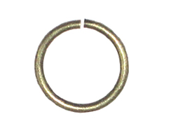 18 Gauge Round Open Jump Ring Antique Brass Plated