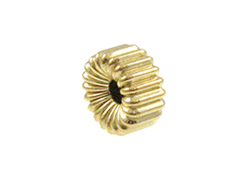 Gold Filled 4x2mm Corrugated Rondelle Bead