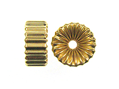 14x6.5mm 14K Gold Filled Corrugated Rondelle Beads