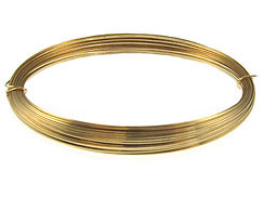 22 Gauge Gold Filled Half Round Wire Half Hard