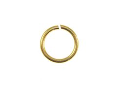 18 Gauge Gold Plated Open Jump Ring 7.5mm Round
