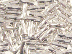 1x4mm Twist Liquid Silver Sterling Silver Tube Beads in Bulk