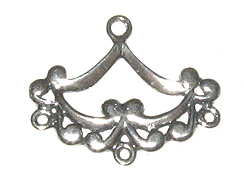 Sterling Silver: Scalloped Edge 1-3 Chandelier Earring Connector