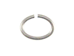 Sterling Silver Open Jump Ring Oval 3.5x5mm 23 Gauge