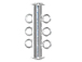 3 Strand Slider Clasp - Silver Plated